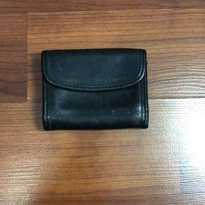 Vintage Black Leather Coach Wallet.